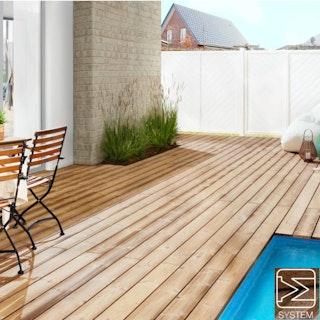 OSMO Terrassendiele mit System Thermoholz Kiefer-geriffelt/glatt