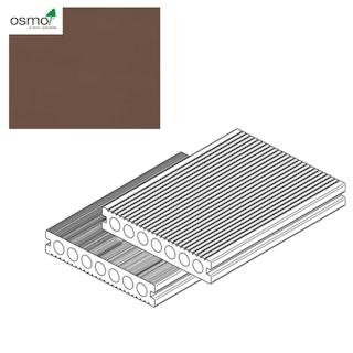 OSMO MULTI-DECK BPC-Terrassendiele Hohlkammer DUNKELBRAUN-gebürstet & geriffelt