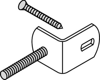 OSMO Elementhalter für Holzpfosten