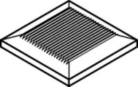 OSMO Pfostenkappen Holz für Aluminiumpfosten