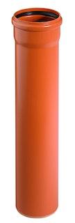 KG PVC Vollwandrohr mit 1 Muffe