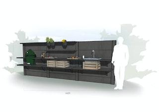 WWOO Designbeton-Outdoorküche Eibe