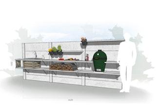 WWOO Designbeton-Outdoorküche Esme