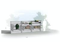 WWOO Designbeton-Outdoorküche Elia