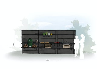 WWOO Designbeton-Outdoorküche Edan