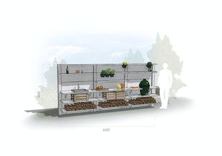 WWOO Designbeton-Outdoorküche Emilian