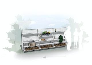 WWOO Designbeton-Outdoorküche Emmik
