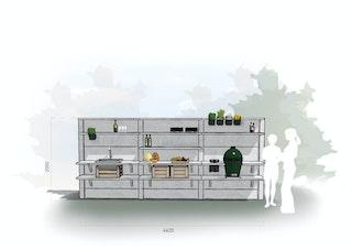 WWOO Designbeton-Outdoorküche Eske