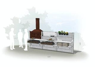 WWOO Designbeton-Outdoorküche Eller