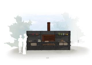 WWOO Designbeton-Outdoorküche Ean
