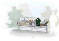 WWOO Designbeton-Outdoorküche Mick