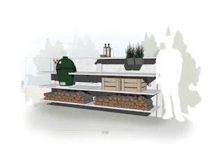 WWOO Designbeton-Outdoorküche Mika