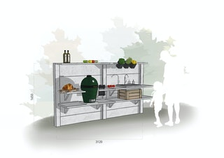 WWOO Designbeton-Outdoorküche Mel