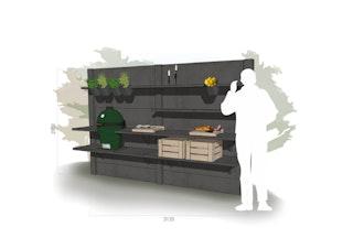 WWOO Designbeton-Outdoorküche Mason