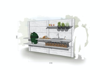 WWOO Designbeton-Outdoorküche Mario