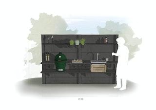 WWOO Designbeton-Outdoorküche Mare