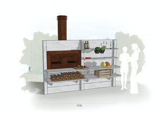 WWOO Designbeton-Outdoorküche Marces