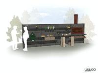 WWOO Designbeton-Outdoorküche Pete