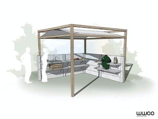 WWOO Designbeton-Outdoorküche Piet