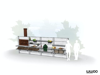WWOO Designbeton-Outdoorküche Pelle