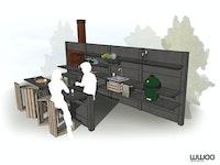 WWOO Designbeton-Outdoorküche Phil