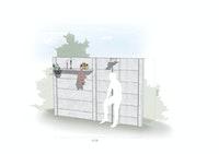 WWOO Designbeton Gartendusche Sander
