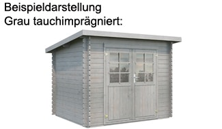 Palmako Gartenhaus Grau tauchimprägniert