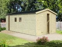 Palmako Gerätehaus Dan 14,7 m² - 16 mm