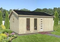 Palmako Nordic+ Gartenhaus Charlotte 21,5 m² - 160 mm