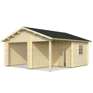 Palmako Garage Roger 21,9+5,2 m² - 44 mm - ohne Tor