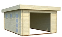 Palmako Garage Rasmus 19,0 m²- 44 mm - ohne Tor