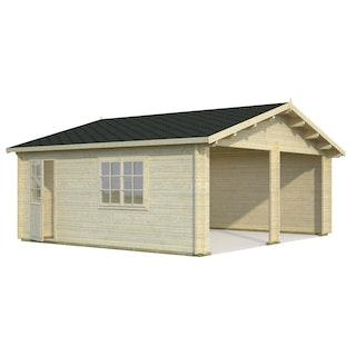 Palmako Garage Roger 28,4 m² - 44 mm - ohne Tore