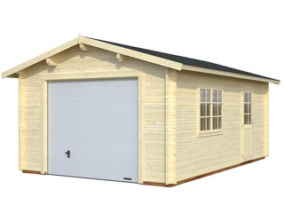 Palmako Garage Roger 19,0 m² - 44 mm - mit Sektionaltor