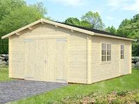 Palmako Garage Roger 19,0 m² - 44 mm - mit Holztor