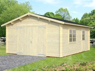 Palmako Garage Roger 23,9 m² - 44 mm - mit Holztor