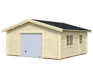 Palmako Garage Roger 27,7 m² - 70 mm - mit Sektionaltor