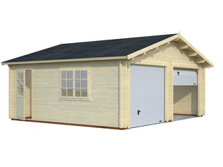 Palmako Garage Roger 28,4 m² - 44 mm - mit Sektionaltoren