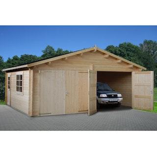 Palmako Garage Roger 28,4 m² - 44 mm - mit Holztoren