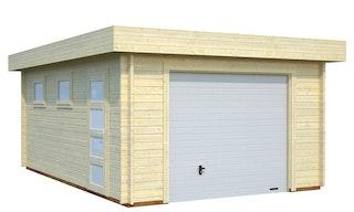 Palmako Garage Rasmus 19,0 m² - 44 mm - mit Sektionaltor