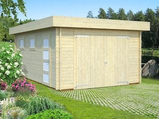 Palmako Garage Rasmus 19,0 m² - 44 mm - mit Holztor