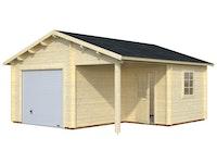 Palmako Garage Roger 21,9+5,2 m² - 44 mm - mit Sektionaltor
