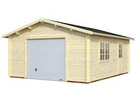 Palmako Garage Roger 23,9 m² - 44 mm - mit Sektionaltor