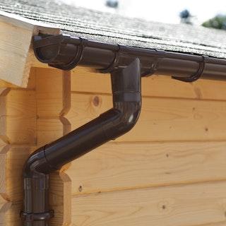Palmako Kunststoff Regenrinnen-Set 5000 mm für Flachdach-Gartenhäuser