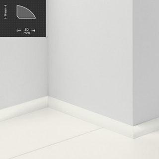 PARADOR Steckfußleiste Viertelstab Uni weiß D001