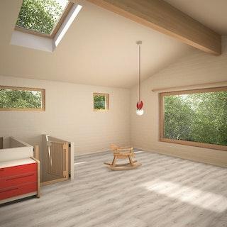 PARADOR Designboden Eco Balance PUR Eiche Askada weiß gekälkt Landhausdiele