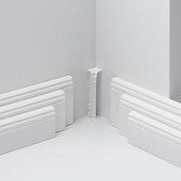 PARADOR Innenecken Typ 2 für Steckfußleiste HL 1/2/3 weiß
