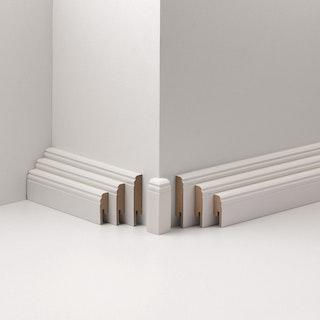 PARADOR Außenecken Typ 2 für Steckfußleiste HL 1/2/3 weiß