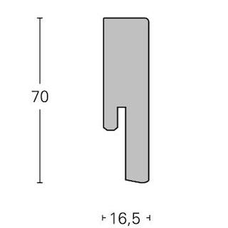 Parador Steckfußleiste Merbau - Dekor