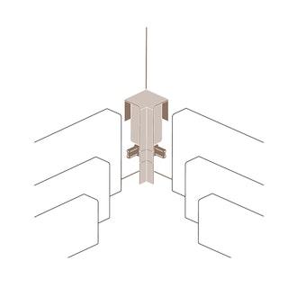 PARADOR Innenecke Typ 2 für Steckfußleiste SL 3/5/6 und 18
