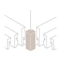 PARADOR Außenecke Typ 2 für Steckfußleiste SL 3/5/6 und 18